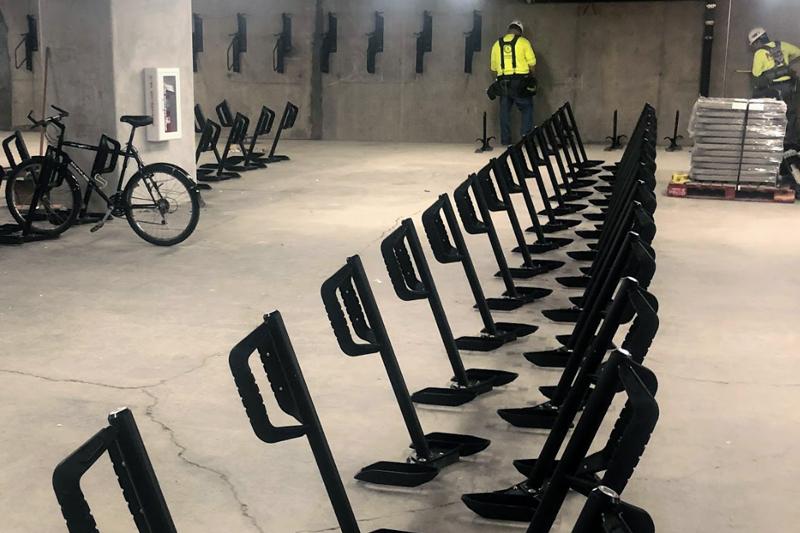 Portland Building Bike Racks